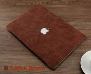 Men Women Laptop Replace Cover Self Stick PU Leather Solid Skin Case For MacBook