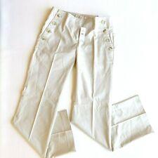 Ann Taylor Loft Sz 0 Marisa Trouser Beige Boot Cut Sailor Pants NWT