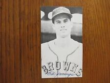 BILL  JENNINGS  St. Louis  Browns  Signed 3 x 5 Black & White  Photo(Died--2010)
