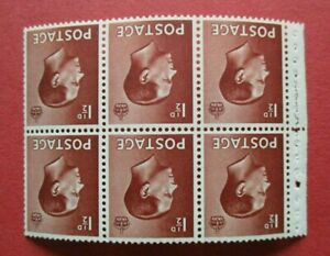 SG459wi Great Britain Edward VIII 1936 1.5d Brown Pane Watermark Inverted MM