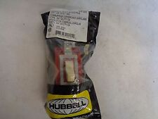 NEW HUBBELL CS120I IVORY COMMERCIAL TOGGLE SWITCH 20 AMP 120/277 V