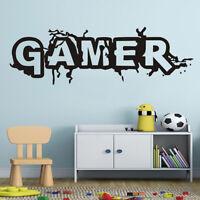KE_ Gamer Console Joystick Wall Sticker Boy Video Game Room Bedroom Decals Cha