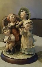 VINTAGE G. ARMANI HAPPY FAMILY SINGING  FIGURINE MADE IN ITALY 1982. READ DESCRI