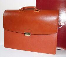 cartella portadocumenti pelle GRIGIO PERLA, valigetta 24 ore briefcase NUOVA
