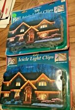 Holiday Party 200 Icicle Light Clips (2) 100 Count Packs Nos