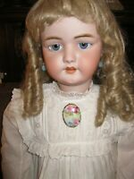 """ANTIQUE SIMON HALBIG 1079 DEP BISQUE HEAD LIFE SIZE 33"""" DOLL FOR FRENCH MARKET"""