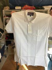 camisa de manga corta hombre regular en blanco XL 100 % algodón