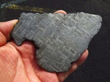 Muonionalusta Iron Meteorite Slice Polished And Nitric Acid Etched 326 G