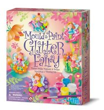 Mould and Paint Glitter Fairy Craft Kit Model Plaster Fairy Magnets Badges Gift