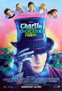 CHARLIE UND DIE SCHOKOLADENFABRIK original Kino Plakat A1 gerollt 2005
