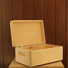 Wooden storage box chest - SET of 3 - memory plain pine wood 30x20x14cm  SD130