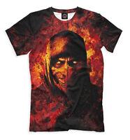 Mortal Kombat t shirt - Scorpion tee legendary fighting game logo
