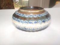 Royal Doulton Lambeth 1880 vase dish  signed A.S.  marked m.m. Antique