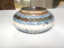 Royal Doulton Lambeth 1880 vase dish  signed A.S.  marked m.m. Antique