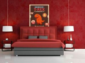 T-REX CARTOON  colorful animals high quality Canvas painting  Home decor