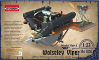 Roden 626 - Engine Wolseley Viper For Airplanes - 1/32 Scale Model Kit 33 mm