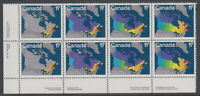 CANADA #890-893a 17¢ Map of Canada LL Plate Block MNH