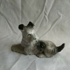 Japanese Ceramic Terrier Figurine