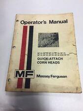 Massey Ferguson Operators Manual Mf Quick Attach Corn Heads