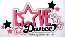 LOVE DANCE title paper piecing Premade Scrapbook Pages album card by Rhonda