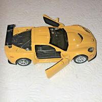 "RMZ City 5"" 2009 Chevrolet Corvette C6 R Diecast Toy Car 1:32  YELLOW USED"