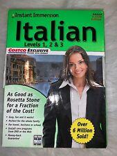 Instant Immersion Italian Levels 1,2,3 Learn Italian