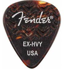 Fender - Médiators Tortoise Shell 351 Shape Extra Heavy - Pack de 6 médiators