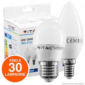 Fino a 30 LAMPADINE LED 5,5W V-TAC attacco E27 E14 Lampadina Candela Oliva Vtac
