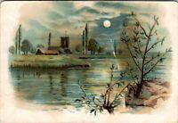 Vtg 1880's Victorian Trade Card AD, Apollo Range Stove, HP Sanderson, Chester NJ