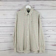 Tommy Hilfiger Pink & Green Plaid Shirt Size Large