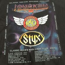 Journey Styx REO Speedwagon Main Event Concert Tour 2003 Large T-shirt
