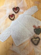 BM003 KNITTING PATTERN LIGHT AS A CLOUD BABY MATINEE JACKET IN 2 PLY