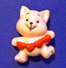 Russ Pin Valentines Vintage Cat Heart Garland Kitten Pink Holiday Brooch