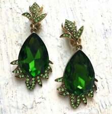 Oscar De La Renta Green Fire Drop Earrings