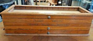 Antique Oak Clarks Anchor Haberdashery Cotton/Thread Counter Top Display