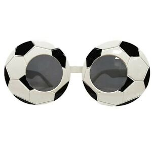 Black & White Football Soccer Glasses Birthday Party World Cup Fancy Dress