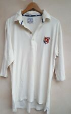 Mens Casual Polo Top 3/4 Sleeves  White by Gunn & Moore UKXL<MP831