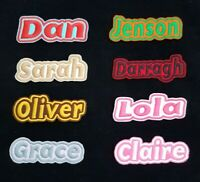 Personalised Embroidered Name Patch Badge G1 Iron on or sew