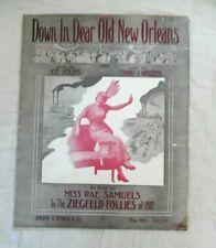 Down In Dear New Orleans-Miss Rae Samuels-Zigfield Follies of 1912-vintage sheet