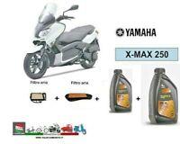 KIT TAGLIANDO per YAMAHA X-MAX 250 07-14 OLIO SINTETICO 10W40  FILTRI