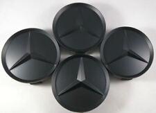Mercedes Benz Center Caps 4x  MATTE BLACK 3 Inch/75mm Fits Most Models