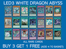 YuGiOh LED3 White Dragon Abyss - Ultra, Super & Rares - Buy 3 Get 1 Free