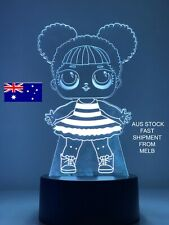 LOL SURPRISE DOLLS QUEEN BEE 3D LED LIGHT 7 Color Night Light remote TABLE LAMP