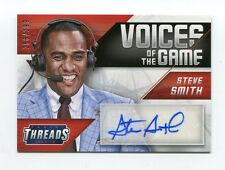 Steve Smith Auto /299 2014-15 Panini Threads Voices of The Game #6 Autograph