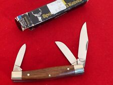 """Browning Germany mint in box stainless stockman 3-7/8"""" closed Knife ld"""