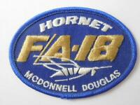 MCDONNELL DOUGLAS HORNET F-18 FIGHTER JET VINTAGE HAT PATCH BADGE MILITARY