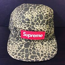 SUPREME FIELD SAFARI CAMO BOX LOGO CAMP CAP 5 PANEL HAT