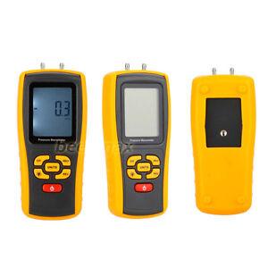 Portable USB Digital Manometer Differential Air Pressure Gauge Data Record GM510