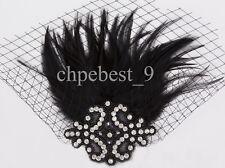 Prom Gown Dresses Flapper Dress Evening Wedding Women's Party Costume Plus Size Regular Black Mesh Headdress