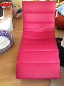 Sessel/Liege dunkel pink